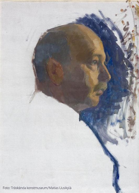 Självporträtt, odaterad, olja på duk, 55 x 41 cm. Träskända konstmuseum