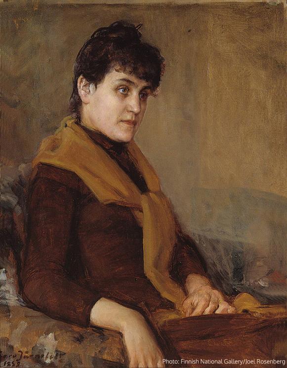 Engagement Portrait of Saimi, 1889, oil on canvas, 42 x 34 cm, Ateneum Art Museum