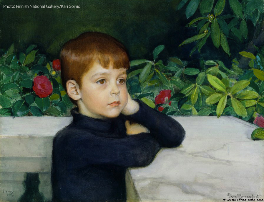 Portrait of the Artist's Son (Heikki Järnefelt), 1897, gouache, 38 x 51,5 cm, Ateneum Art Museum