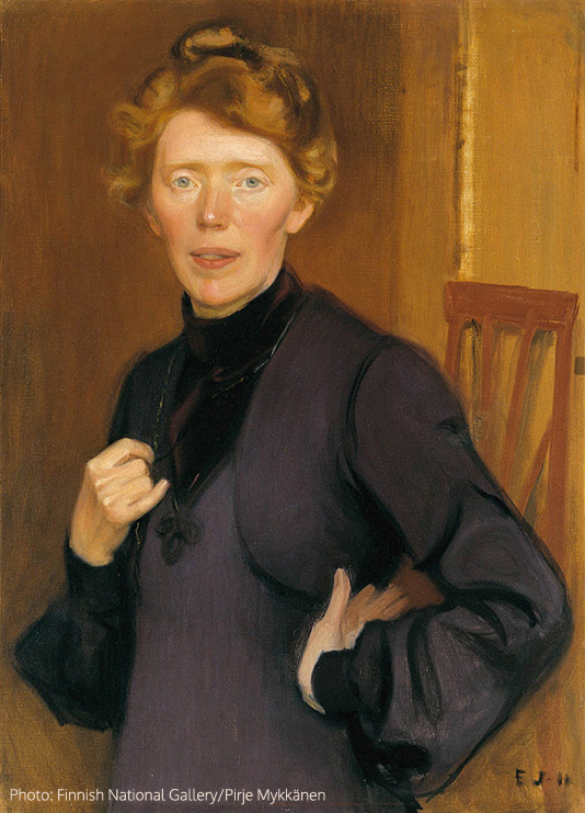 Portrait of Tekla Hultin, 1905, oil on canvas, 72,5x53,5 cm, Antell Collections, Ateneum Art Museum